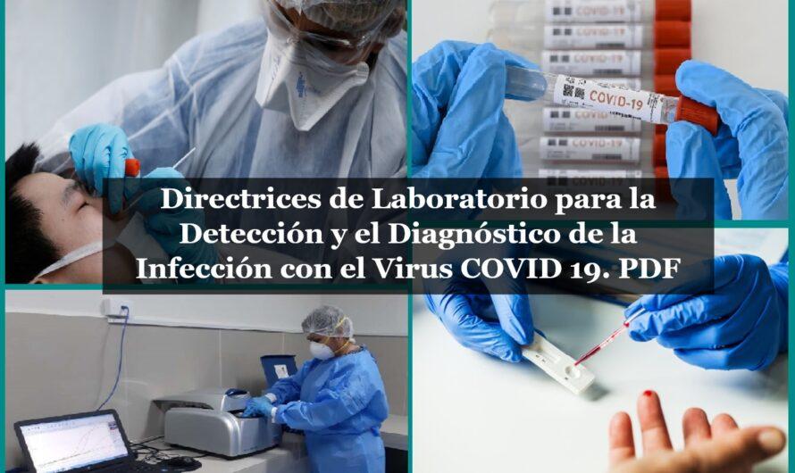 Directrices de Laboratorio para la Detección y el Diagnóstico de la Infección con el Virus COVID 19. PDF