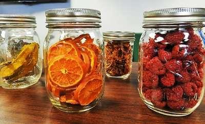 Guía - Deshidratación y desecado de frutas, hortalizas y hongos - frutas desecadas en frascos
